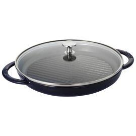 Staub Cast Iron, 10-inch Round Steam Grill - Dark Blue