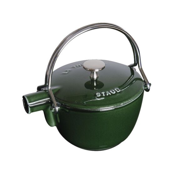 1-qt Round Tea Kettle - Basil,,large 2