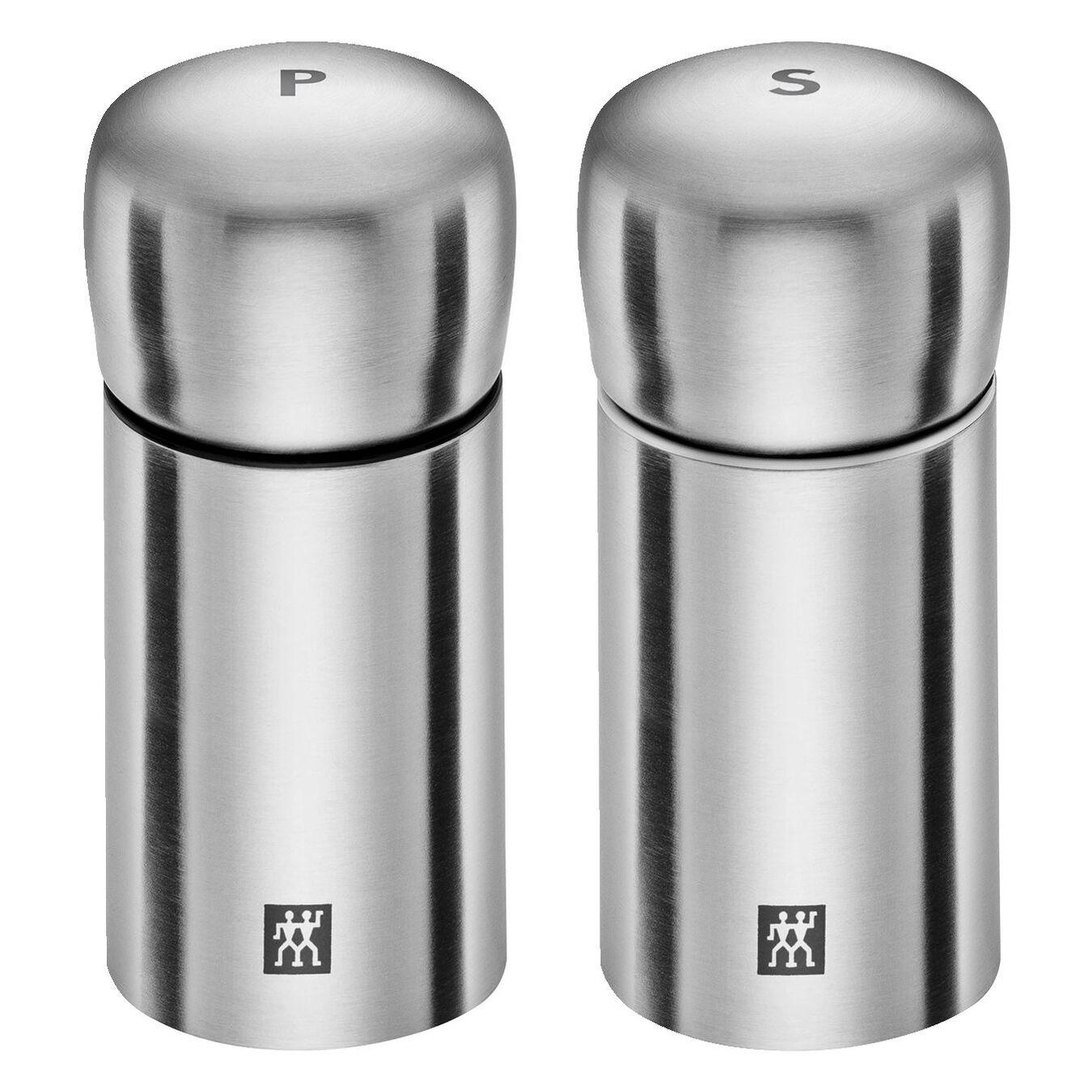 Tuz ve Karabiber Değirmeni   Metalik Gri   paslanmaz çelik   11 cm,,large 1