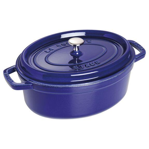 Döküm Tencere, 29 cm | Koyu Mavi | Oval | Döküm Demir,,large 2