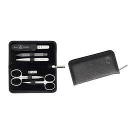 ZWILLING TWINOX, Zip fastener case, 5 Piece | Yak leather | black
