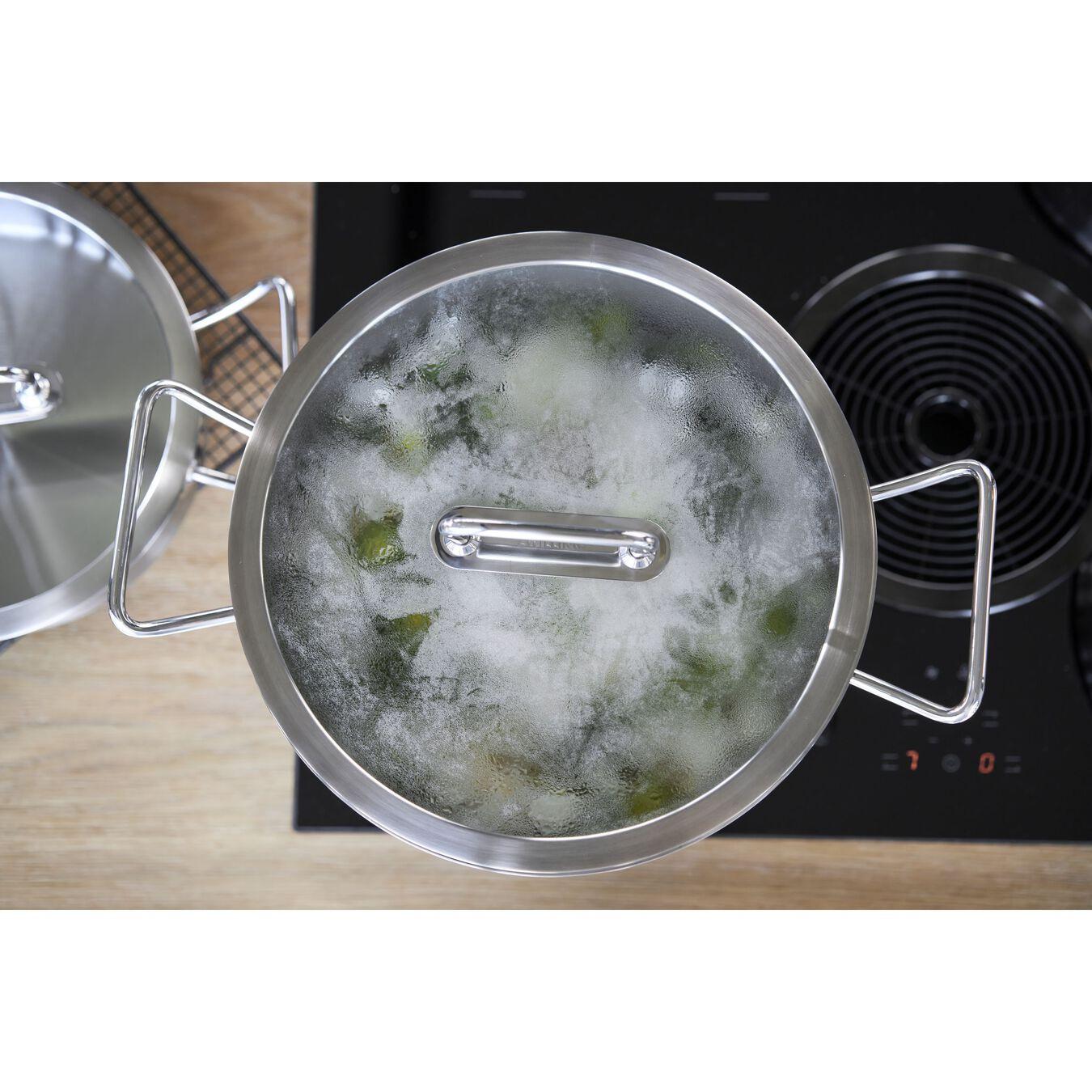 Suppegryde Højsidet 24 cm, 18/10 rustfrit stål,,large 7