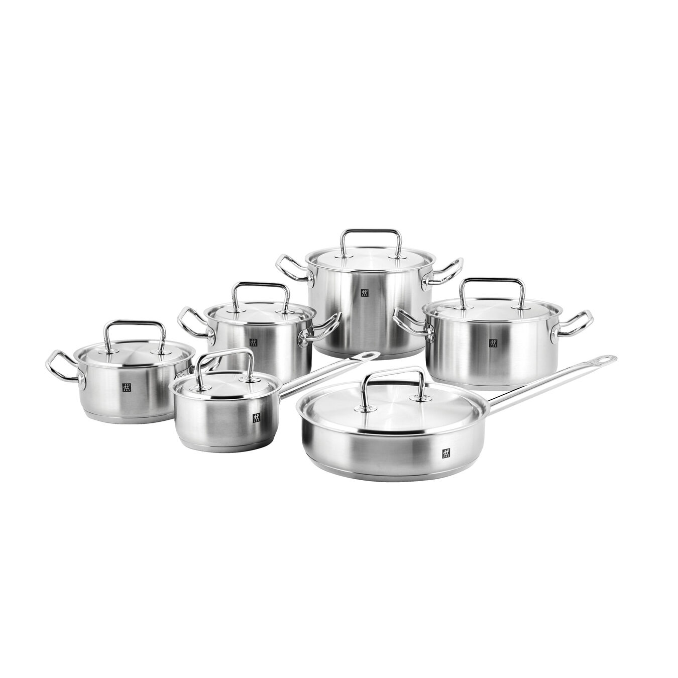 12-pcs 18/10 Stainless Steel Set de casseroles et de poêles,,large 1