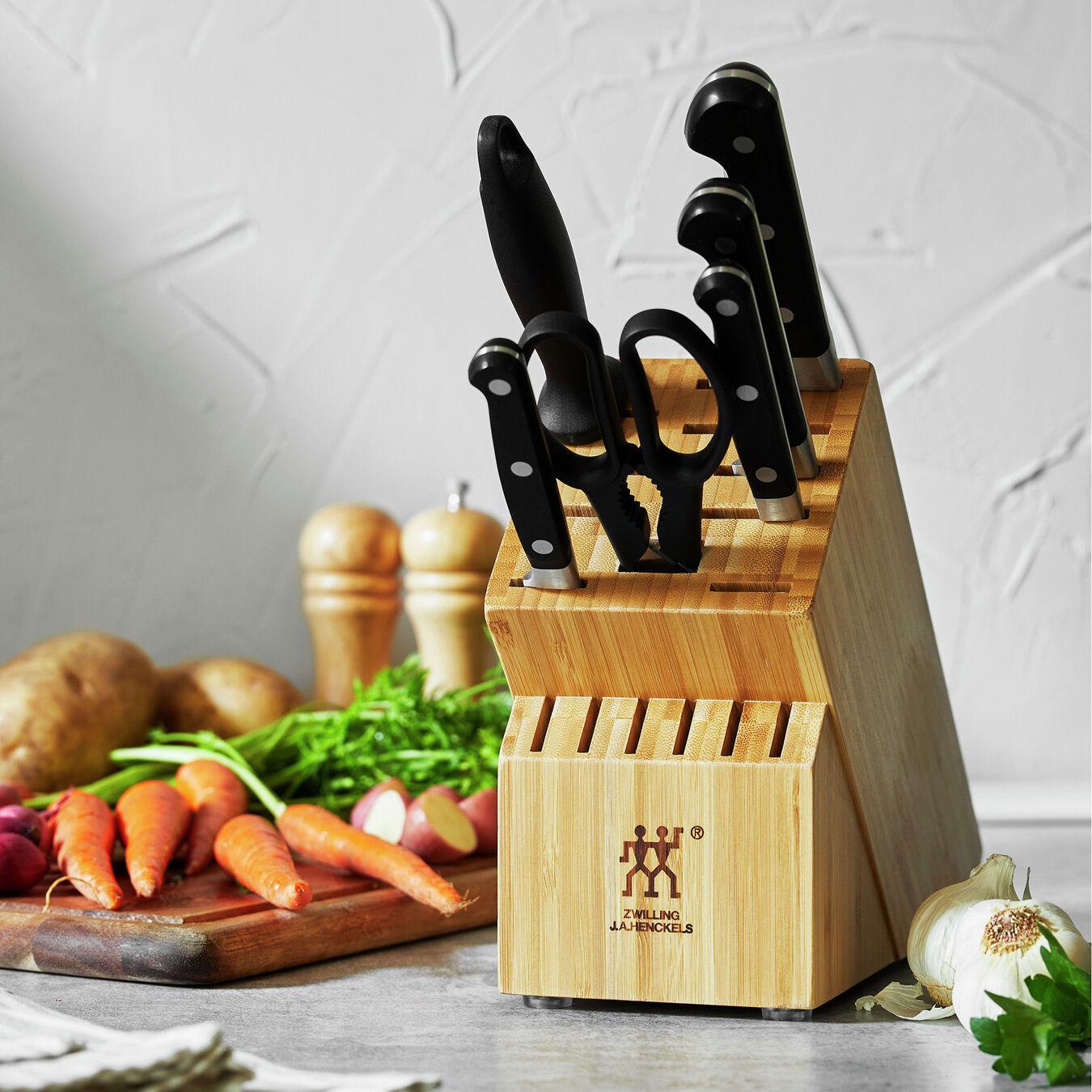 7-pc, Knife block set, bamboo,,large 9