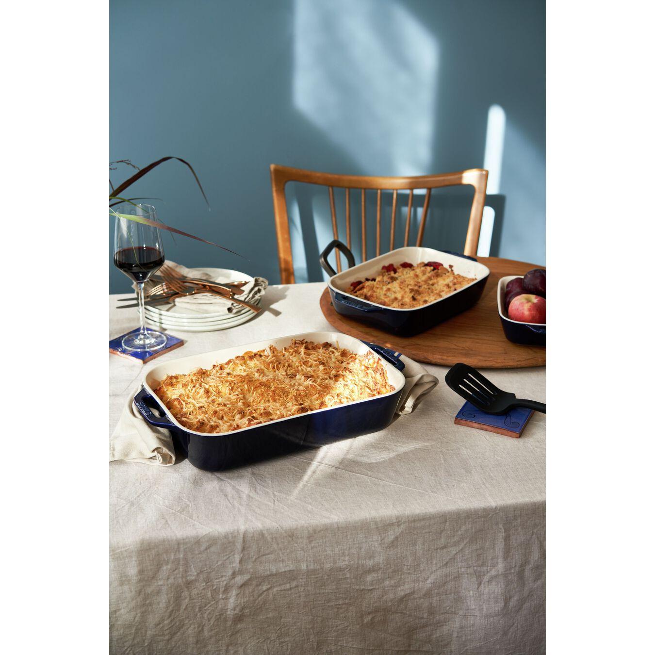 9.5-inch, rectangular, Special shape bakeware, dark blue,,large 4