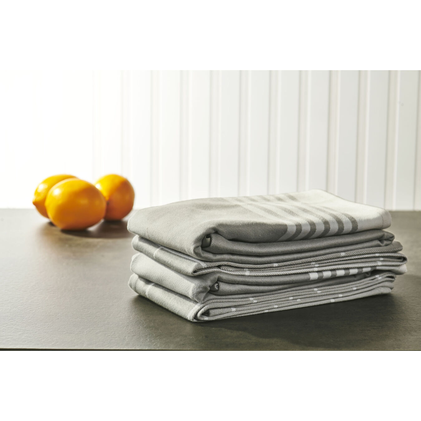 4-pc Kitchen Towel Set - Grey,,large 4