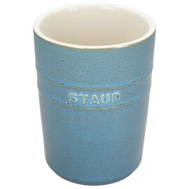 Staub Ceramics, Utensil holder, rustic turquoise