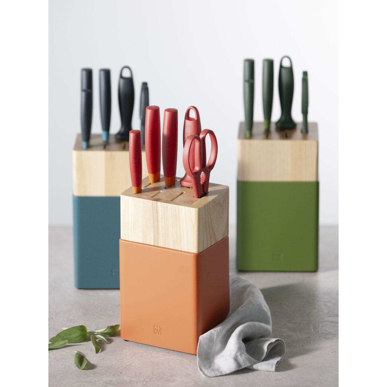 8-pc, Knife block set, orange,,large 5