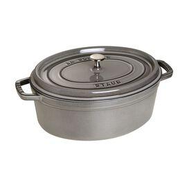 Staub Cast iron, 7.25-qt-/-33-cm oval Cocotte, Graphite-Grey
