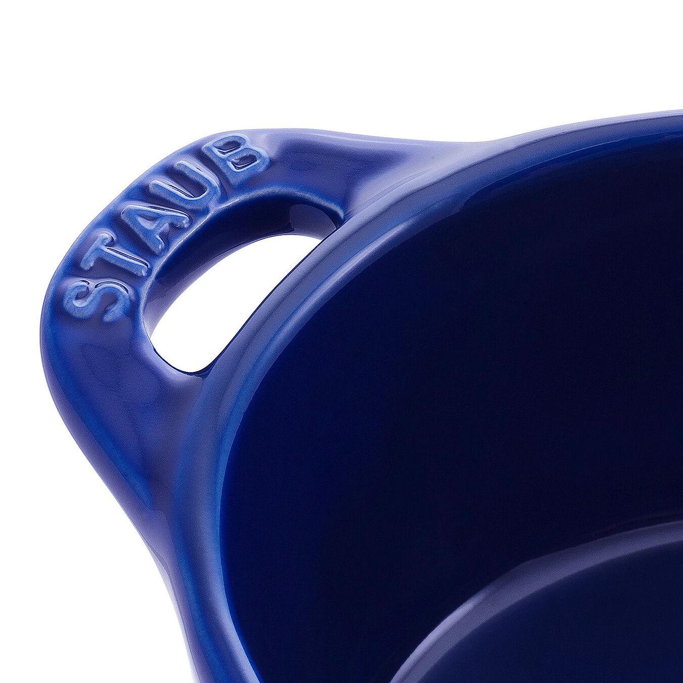 Mini Cocotte 10 cm, Rond(e), Bleu intense, Céramique,,large 4