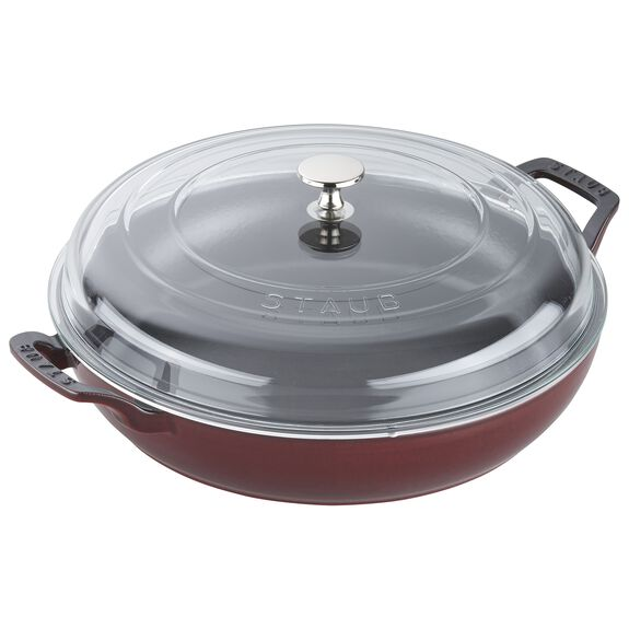 3.5-qt Braiser with Glass Lid - Grenadine,,large