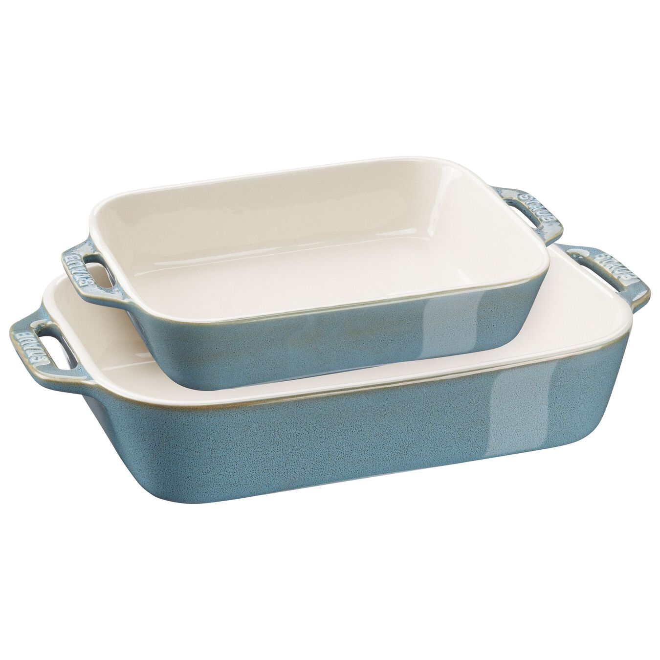 2-pc, Rectangular Baking Dish Set, rustic turquoise,,large 1