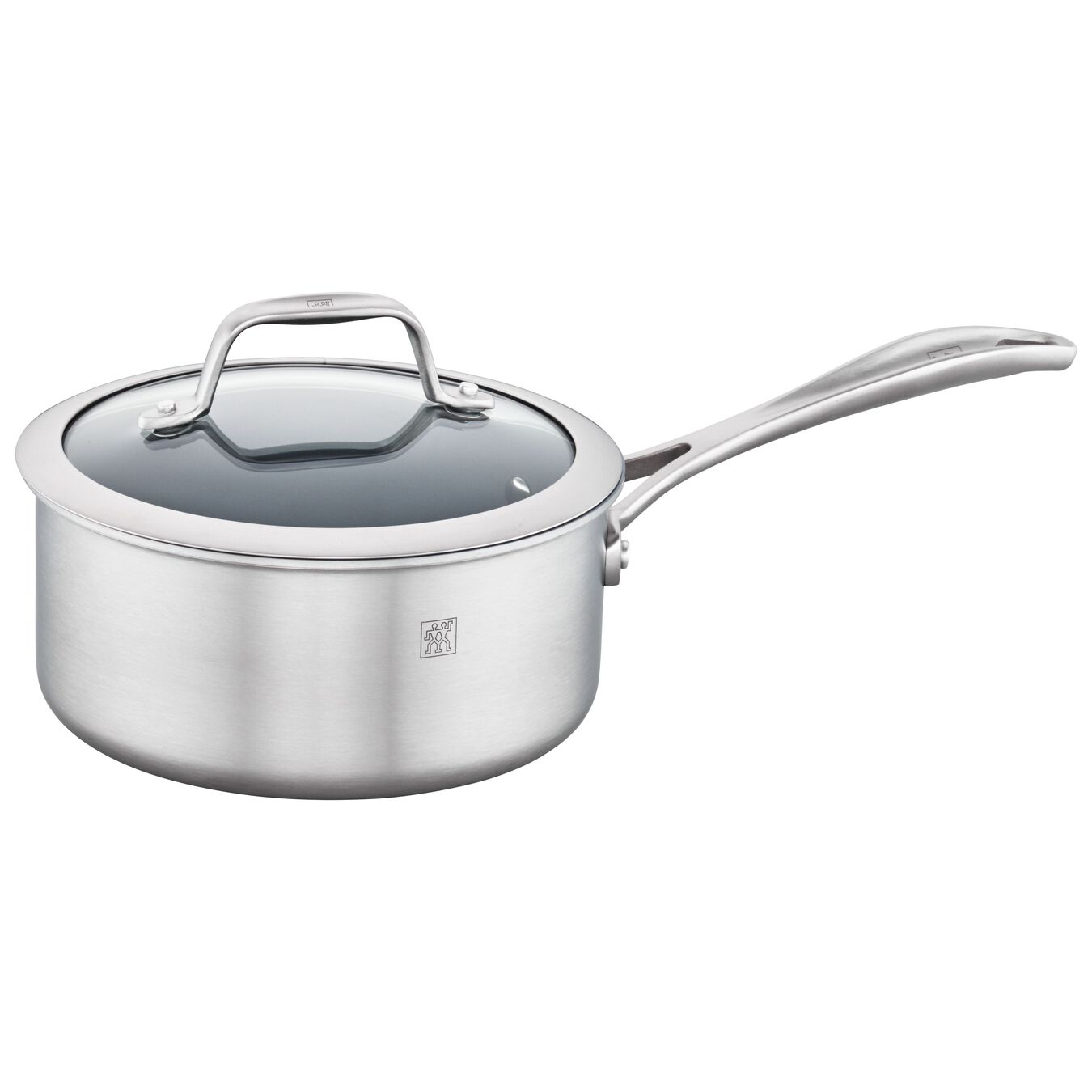 3-ply 2-qt Stainless Steel Ceramic Nonstick Saucepan,,large 2