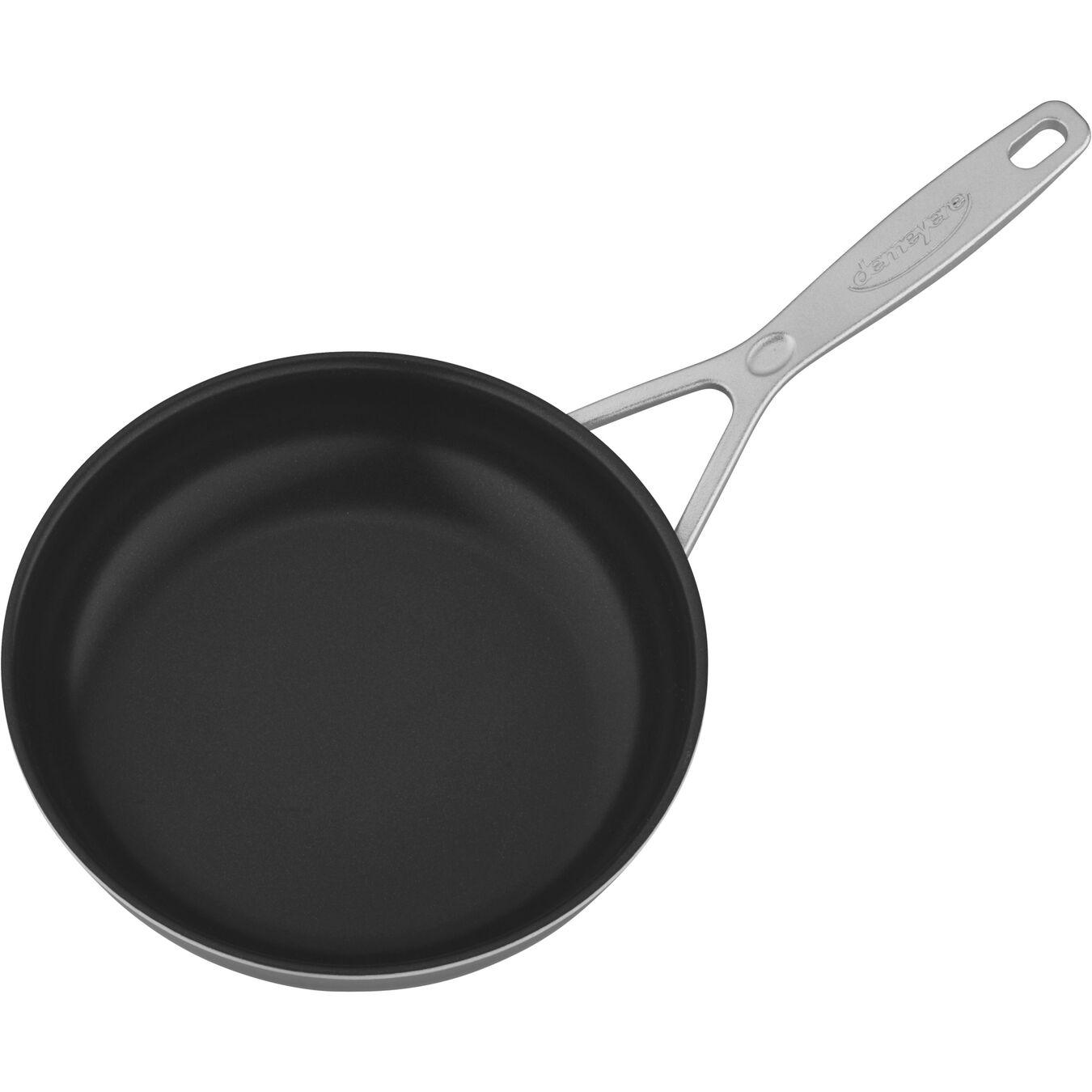 Poêle 20 cm, Inox 18/10, Silver-Black,,large 2
