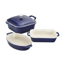 Staub Ceramique, Ovenware set, 4 Piece | dark-blue