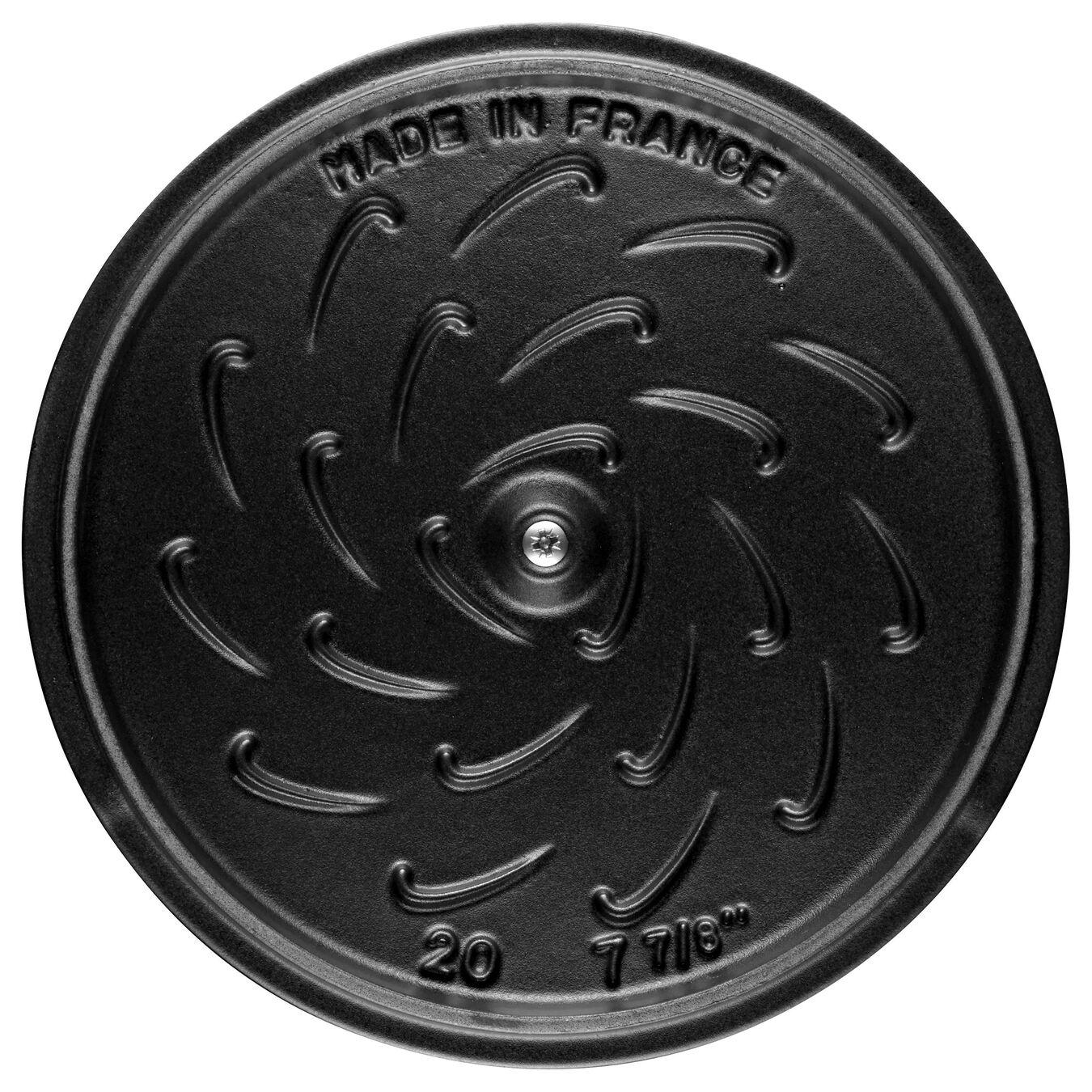 2.25 l Cast iron round Saute pan, Grenadine-Red,,large 6
