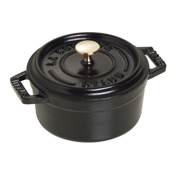 10-cm-/-4-inch round Mini Cocotte, Black,,large