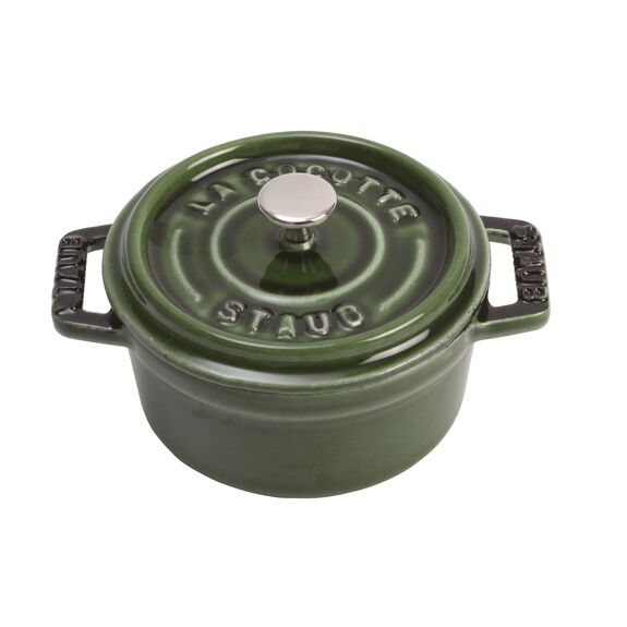 10-cm-/-4-inch round Mini Cocotte, Basil-Green,,large 3