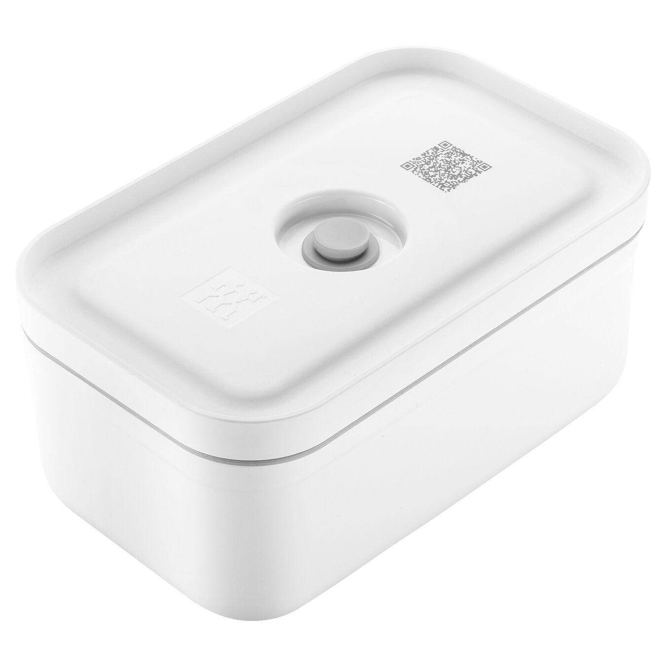 medium Vacuum lunch box, Plastic, white,,large 1