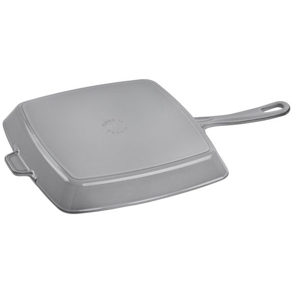 12-inch Square Grill Pan - Graphite Grey,,large 2