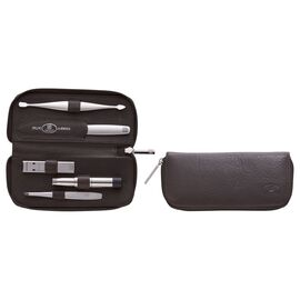 ZWILLING TWINOX, 6-pc, Men's Competence with Zipper Case Brown