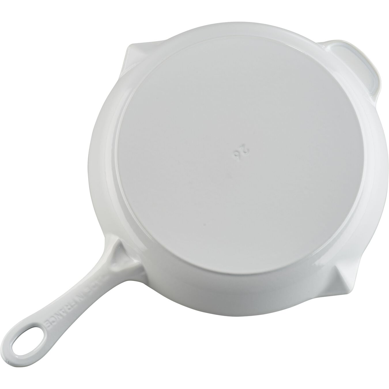 10-inch, Frying pan, white,,large 3
