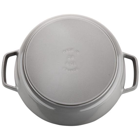 6-qt Cochon Shallow Wide Round Cocotte - Graphite Grey,,large 5