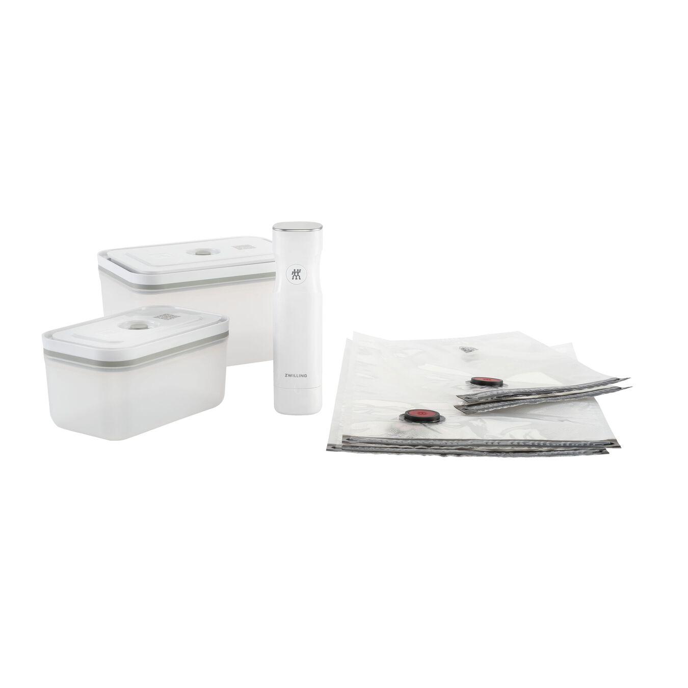Vacuum starter set, 7-pc, Plastic, White,,large 1