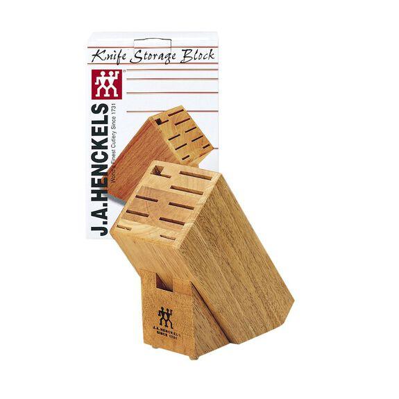 10-slot Hardwood Knife Block,,large