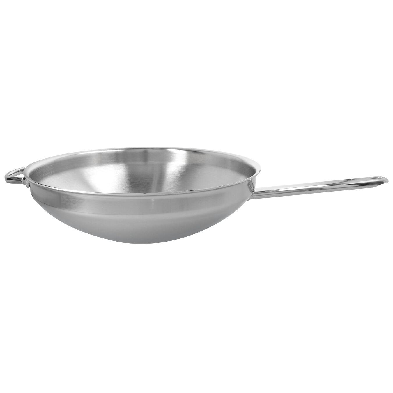 Wok fondo piatto - 32 cm, 18/10 acciaio inossidabile,,large 1