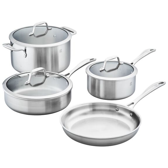 3-ply 7-pc Stainless Steel Cookware Set,,large