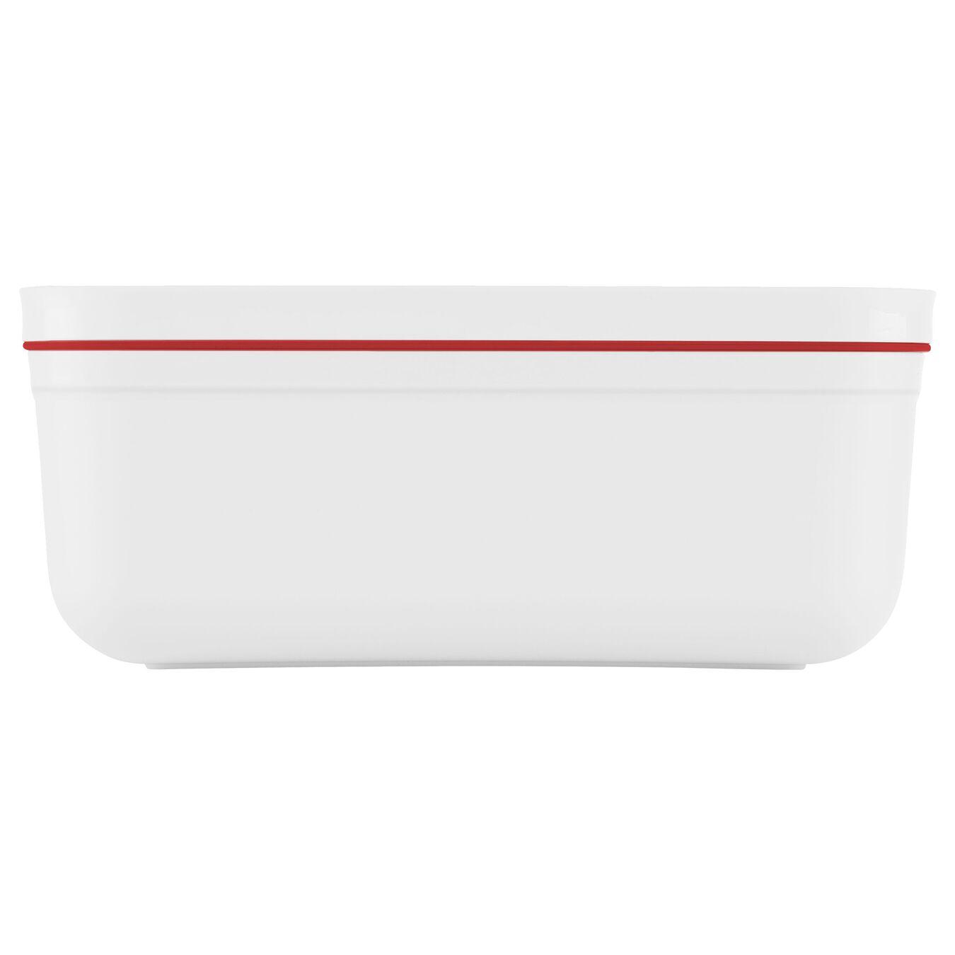 Lunch box sottovuoto, L, plastica, bianco-rosso,,large 3