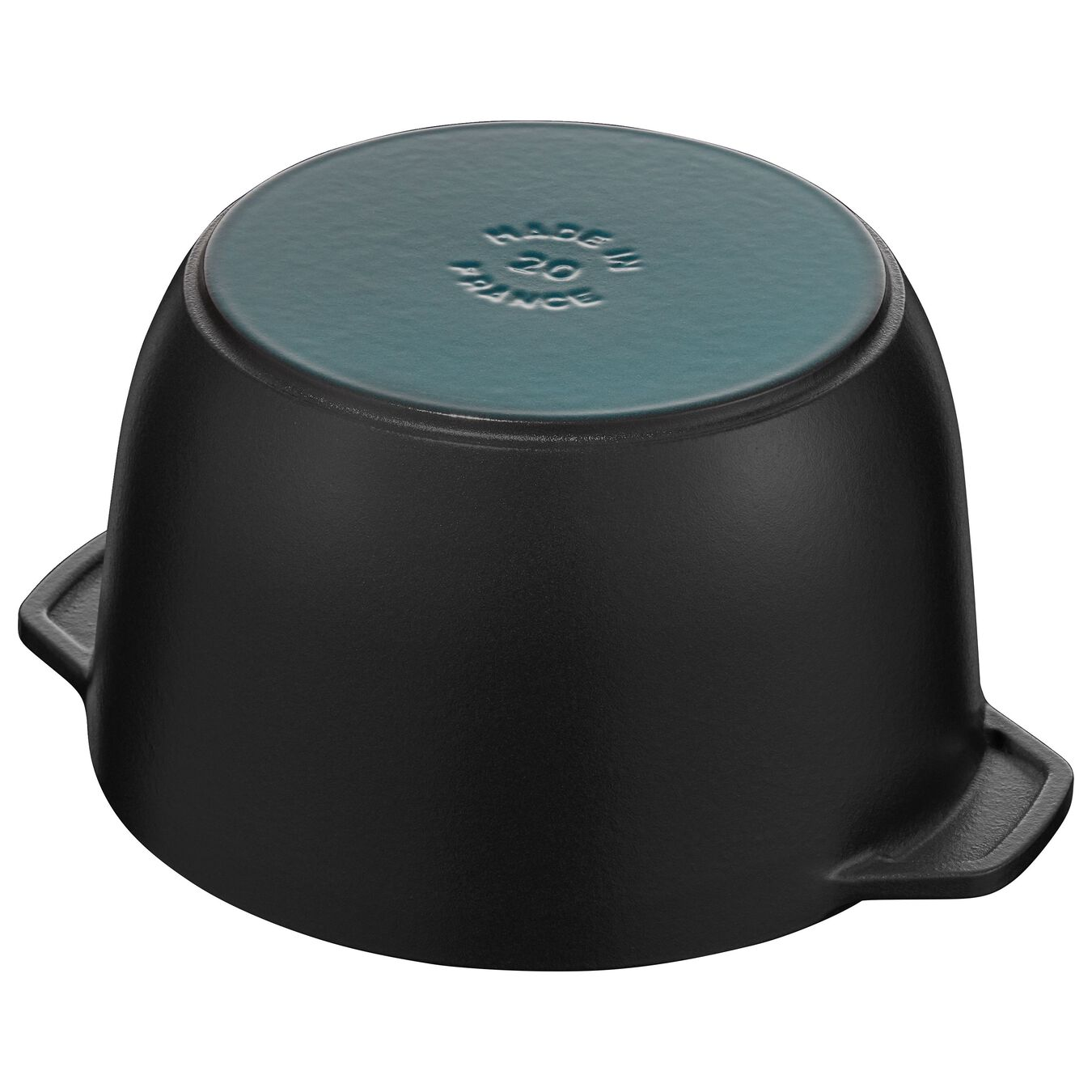 3.25-qt round Cast iron Petite French Oven, Black Matte,,large 4
