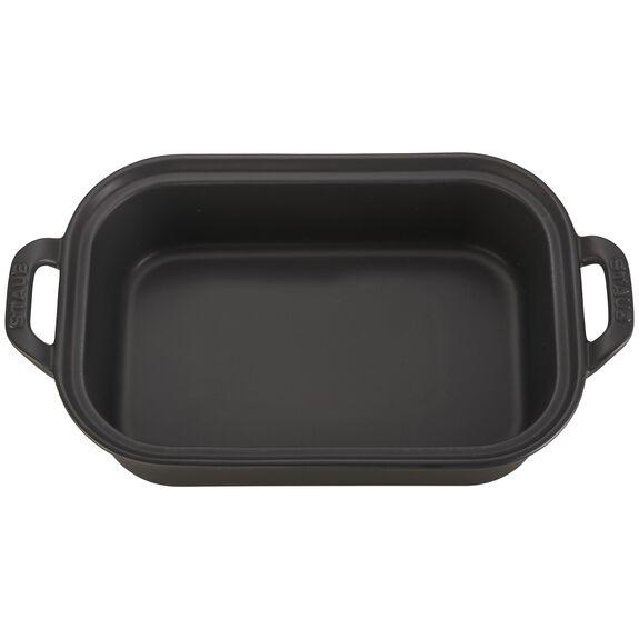 """12"""" x 8"""" Rectangular Covered Baking Dish, Black Matte, , large 2"""