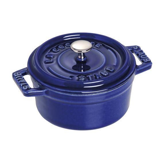 0.25-qt Mini Round Cocotte - Dark Blue,,large