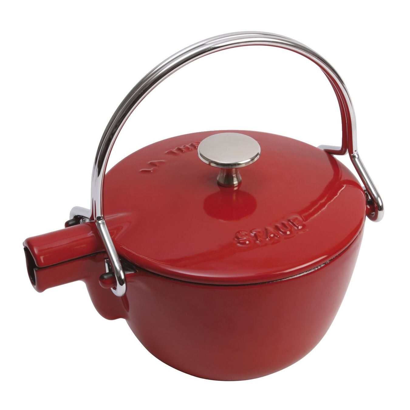 1.1 l Cast iron Tea pot, cherry,,large 3