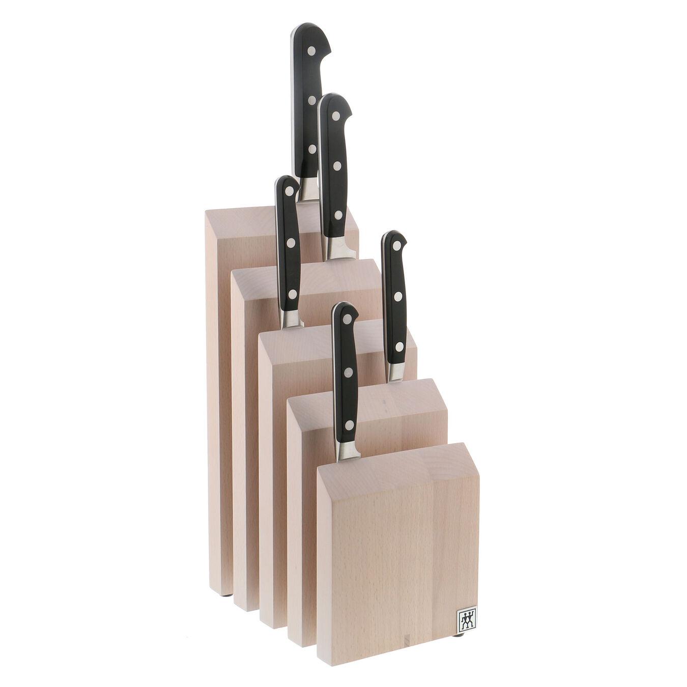 Upright Magnetic Knife Block - White-Colored Beechwood,,large 2
