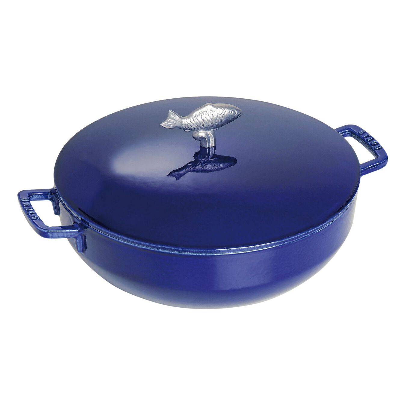 4.75 l Cast iron round Bouillabaisse pot, Dark-Blue,,large 1