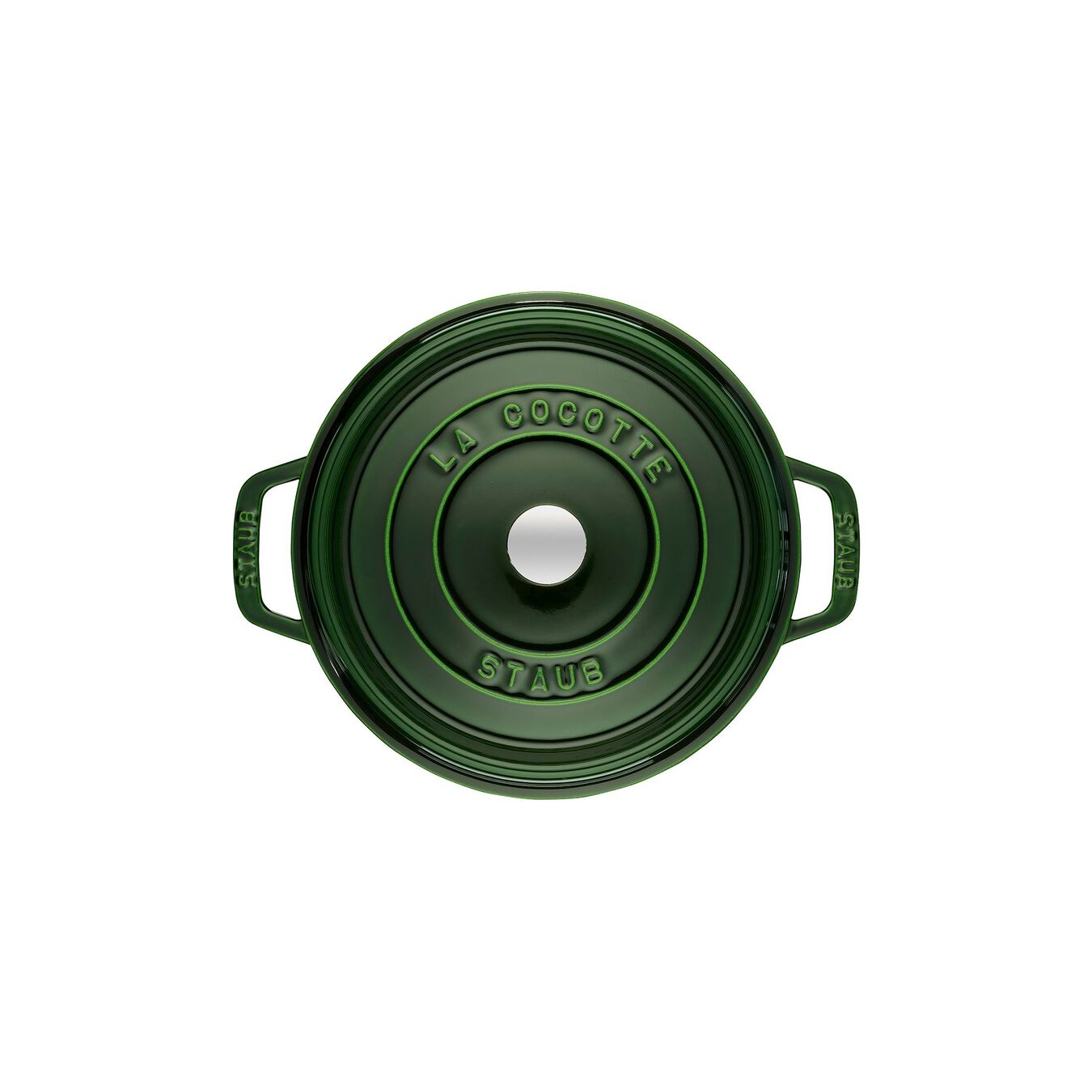 3.8 l Cast iron round Cocotte, basil-green,,large 2