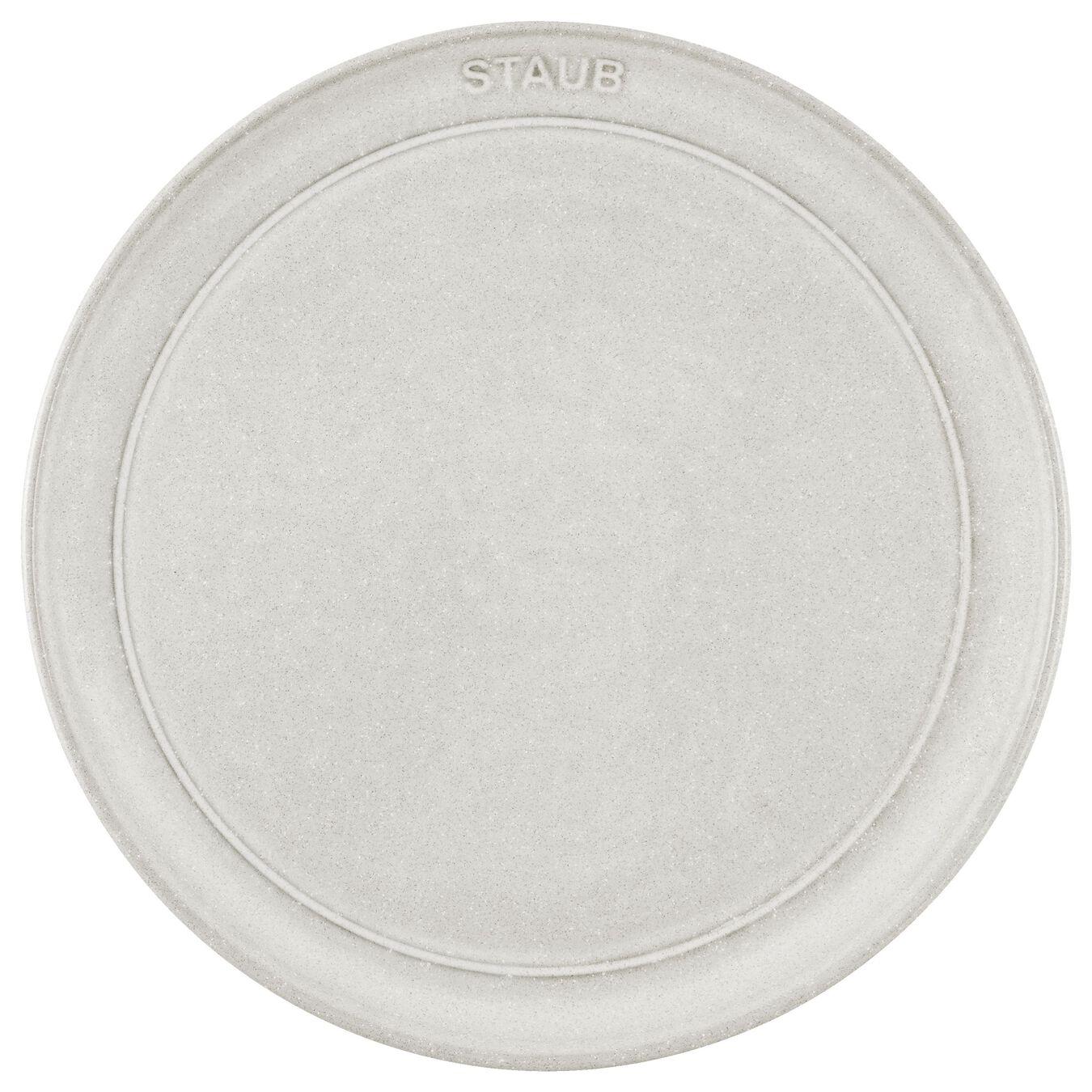 Teller flach 22 cm, Keramik, Weisser Trüffel,,large 2