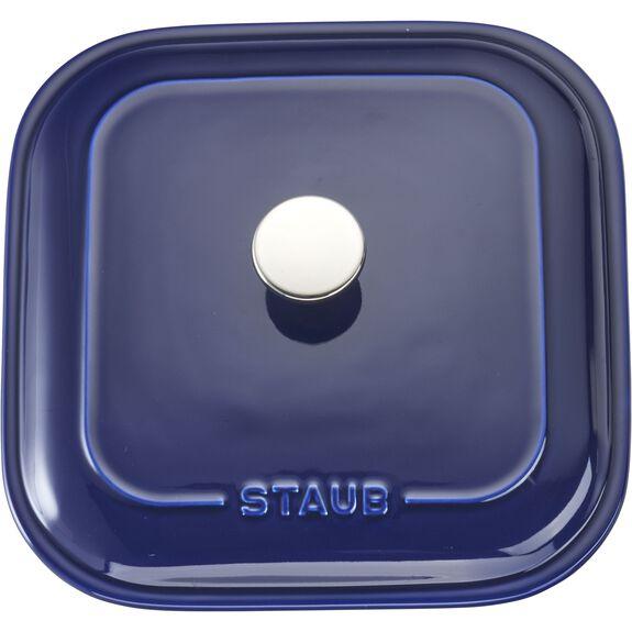 "9"" x 9"" Square Covered Baking Dish, Dark Blue, , large 3"