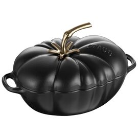 Staub Cast Iron, 3-qt Tomato Cocotte - Matte Black