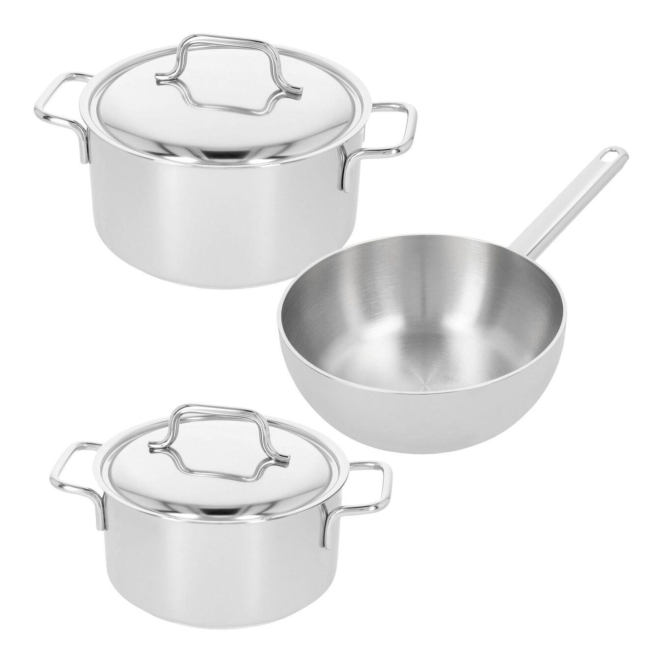 Set de casseroles, 3-pces,,large 1