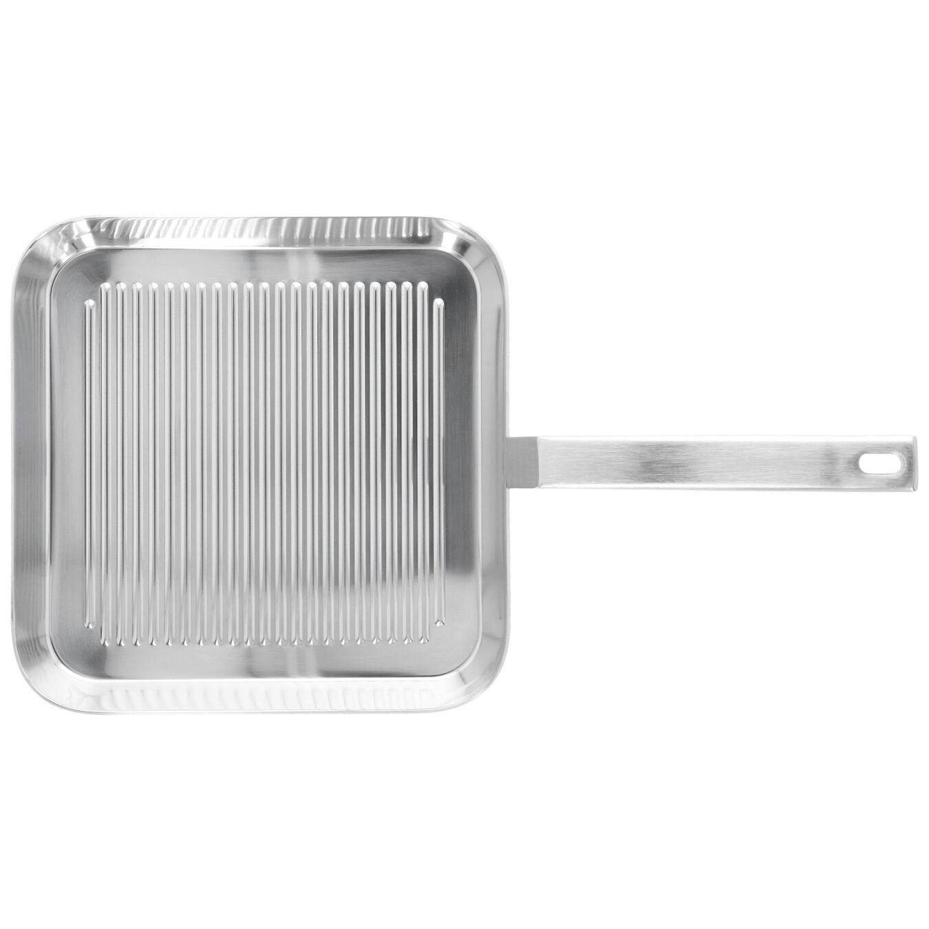 Grillpfanne 28 cm, 18/10 Edelstahl, Silber,,large 2