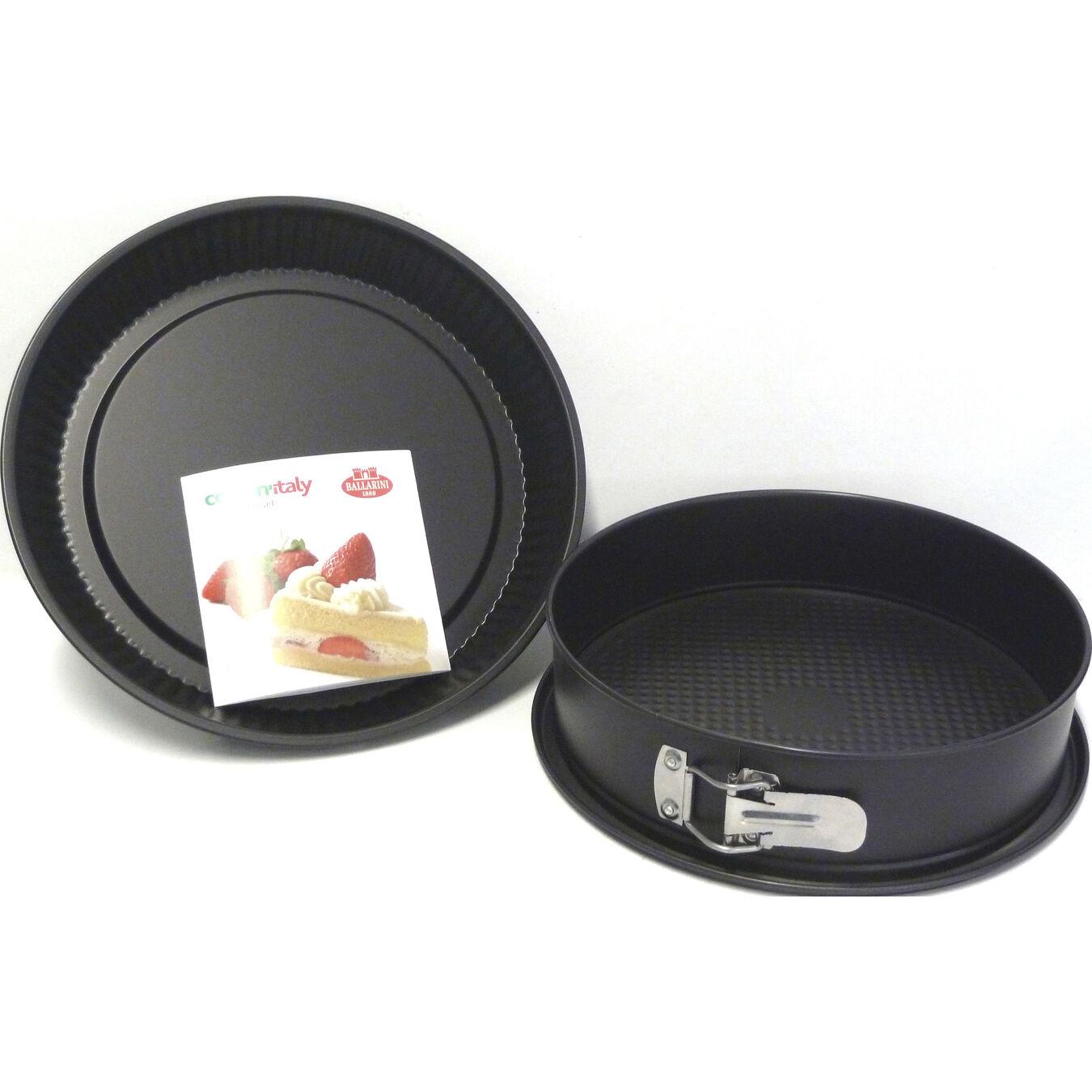 3-pc, round, Cake Pan Set, black matte,,large 1