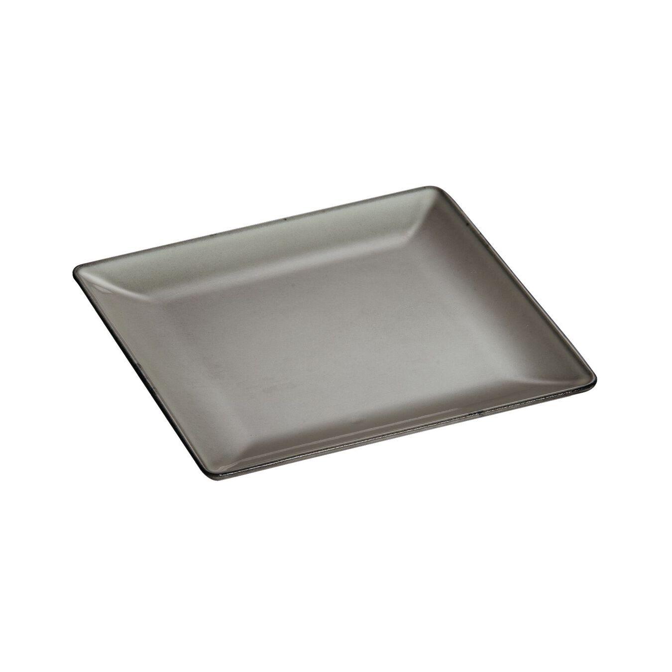 Assiette 24 cm x 24 cm, Gris graphite, Fonte,,large 3