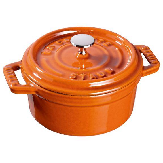 0.25-qt Mini Round Cocotte - Burnt Orange,,large 2