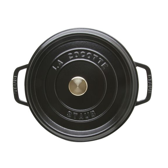 4-qt round Cocotte, Black,,large 6