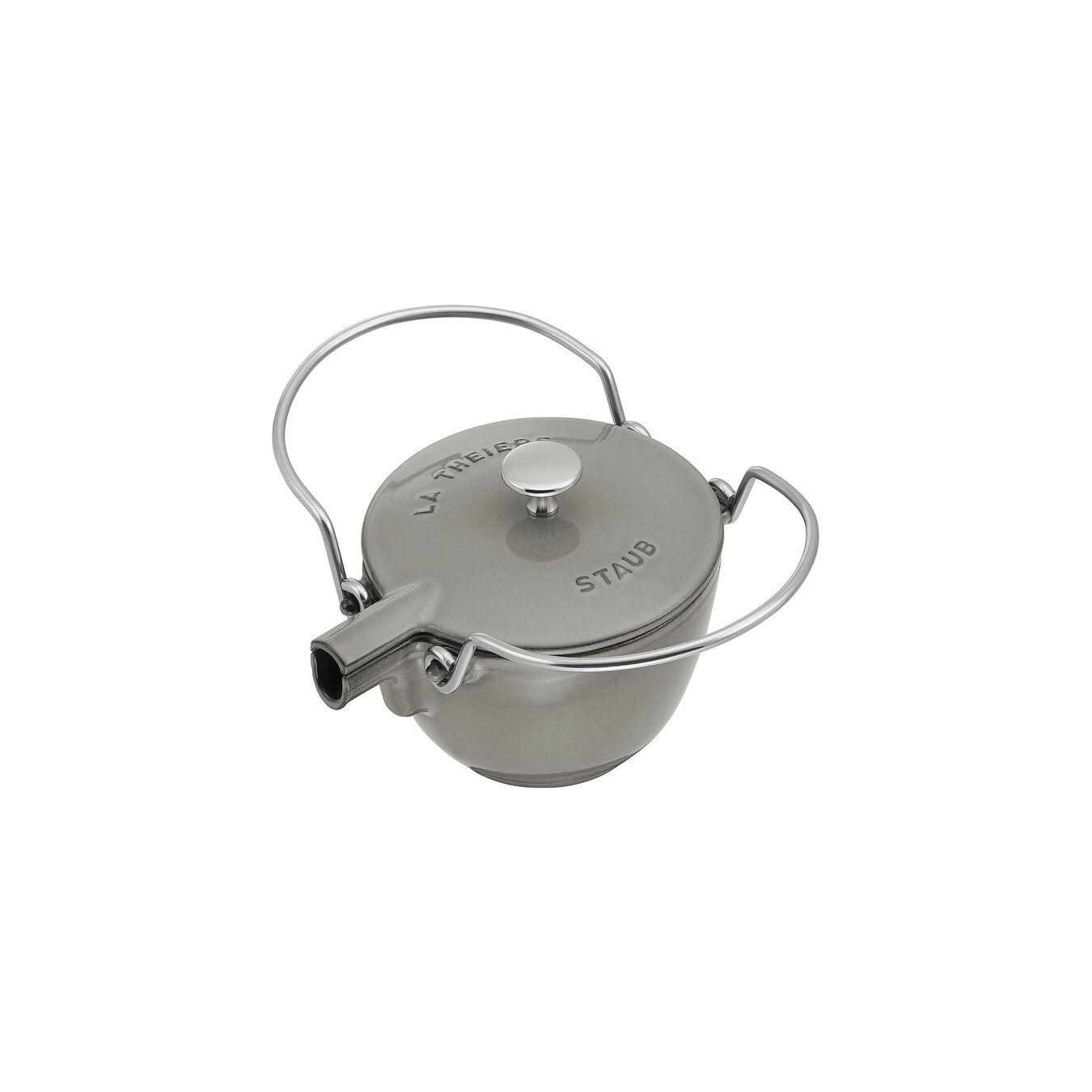 1 qt, round, Tea Kettle, graphite grey,,large 2
