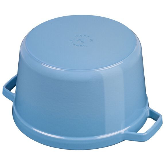 5-qt round Cocotte, Ice-Blue,,large 4